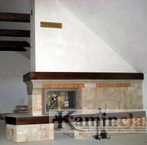 Камин двухсторонний , бильярдный зал