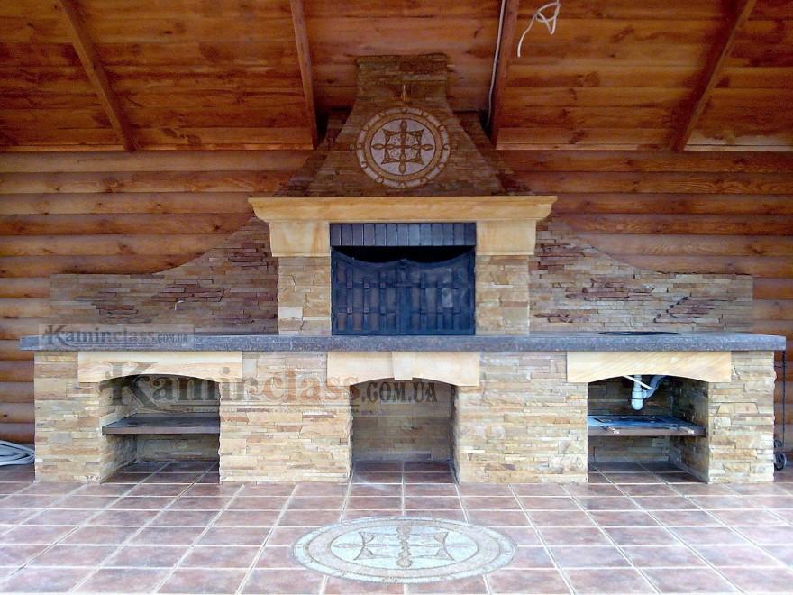 садовый камин барбекю