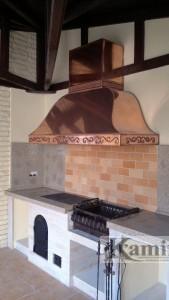 Летняя кухня с мангалом, барбекю, печь, плита