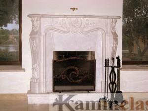 Камин - портал в стиле барокко
