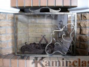 Художественная Ковка , защитная решетка для камина