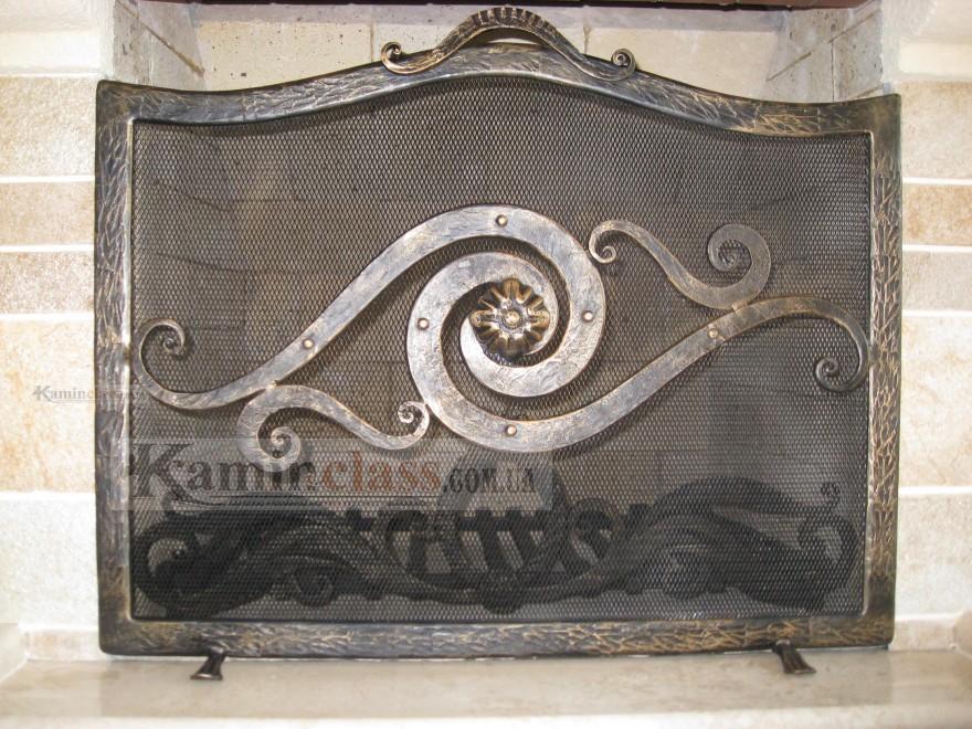 Художественная Ковка , защитная решетка для камина и колосник
